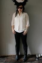 Built by Wendy blouse - H&M pants - boots