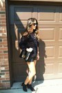Black-h-m-boots-blue-thrift-sweater-black-hermes-bag-black-vintage-shorts
