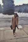 Bronze-thrifted-vintage-coat-dark-brown-louis-vuitton-bag