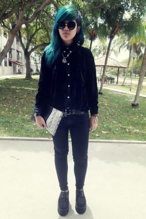 black velvet shirt top
