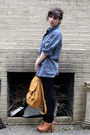 Black-goodwill-jeans-light-purple-goodwill-shirt-tawny-baggu-bag-tawny-jef