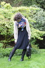 Beige-forever-21-sweater-blue-h-m-scarf-black-francesco-biasia-bag-black-g