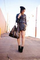 camo Zara sweatshirt - Topshop boots - Topshop hat