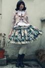 Black-handmade-by-reiko-skirt-white-anna-house-blouse