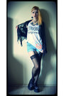 Black-creepers-demonia-shoes-light-blue-diy-shorts-white-fab-self-made-top