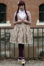 Maroon-c-a-tights-off-white-bodyline-wedges-eggshell-lolita-handmade-skirt