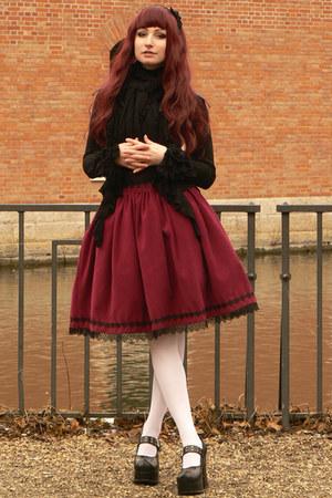 maroon handmade skirt