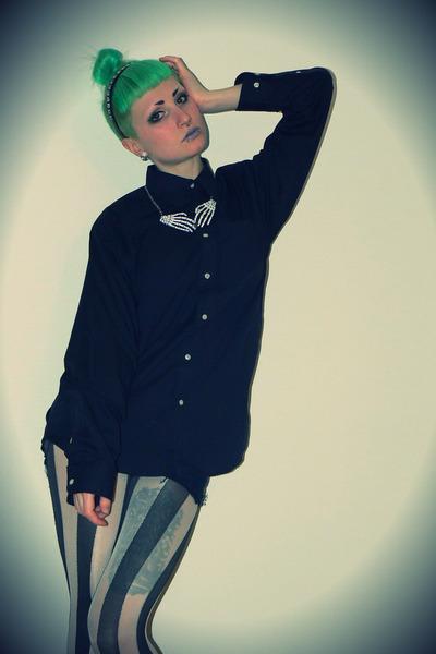 white romwe accessories - black Bershka accessories