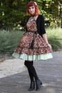 Dark-brown-lolita-jsk-handmade-by-me-dress