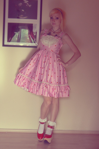red Bodyline shoes - bubble gum jsk Bodyline dress