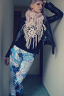 Black-biker-jacket-pimkie-jacket-sky-blue-h-m-leggings