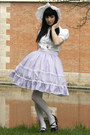 White-bonnet-handmade-by-proxima-vita-hat-periwinkle-lolita-handmade-skirt