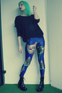 Black-new-yorker-sweatshirt-blue-lovelysally-leggings-black-vagabond-heels