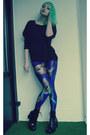 Blue-lovelysally-leggings-black-new-yorker-sweatshirt-black-vagabond-heels