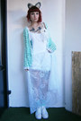 White-diy-dress-white-bloomers-diy-shorts-aquamarine-crochet-diy-cardigan
