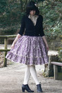 Violet-handmade-skirt-black-h-m-cardigan-off-white-h-m-accessories