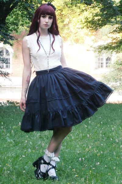 black lolita RABBIT HEART shop skirt