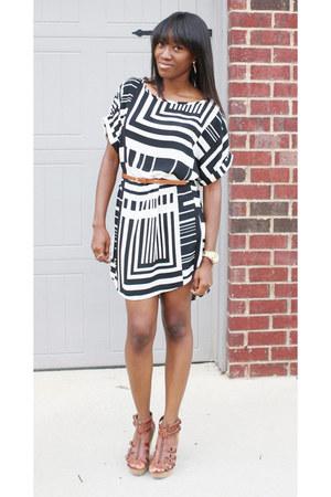 geo print Dress dress