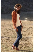 J Brand jeans - sam edelman boots - Urban Outfitters hat
