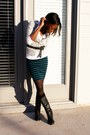 Forever-21-skirt-dsw-boots