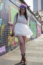 White-boho-lace-dress-chiwish-dress-navy-frolicking-with-clementine-jacket