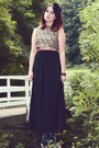 Black-maxi-skirt-zara-skirt
