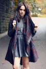Heather-gray-lace-neon-rose-dress-brick-red-tartan-parker-all-saints-jacket