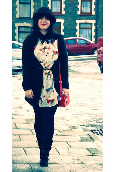bowler hat new look hat - butterfly dress Matalan dress