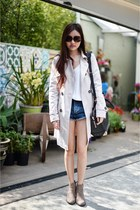 Alexander Wang bag - denim Topshop shorts - bardot top