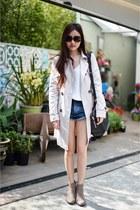 Alexander Wang bag - denim Topshop shorts - bardot top
