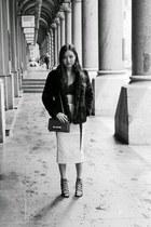 midi skirt Premonition Designs skirt - fur coat Topshop coat