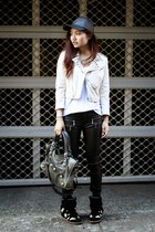 Nasty Gal jacket - Nude Lucy t-shirt - cotton on pants - Isabel Marant sneakers