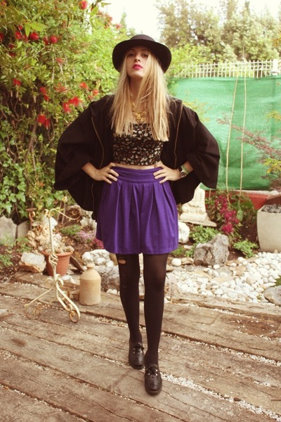 Primark skirt - H&M cape - Primark top
