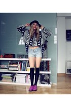 Coolway shoes - christian dior hat - H&M tights - vintage shorts