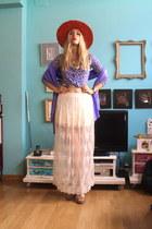 handmade hat - Zara skirt