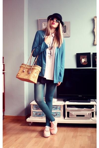 Stradivarius blazer - vintage bag - vintage blouse