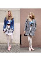 Primark skirt - shoes - thrifted coat - Sheinside jacket