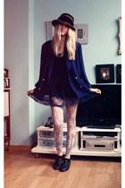 H&M leggings - vintage shoes - Primark dress - vintage hat - vintage blazer