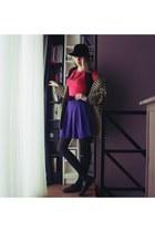 Primark skirt - vintage shoes - vintage coat - christian dior hat