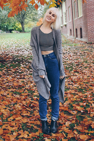 American Apparel jeans - Urban Outfitters boots - H&M cardigan