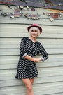 Thrifted-hat-acne-bag-polka-dot-yesfor-romper-urban-outfitters-flats