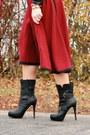 Black-justfab-boots-black-faux-leather-aupie-blouse