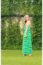 aquamarine maxi 10DollarMall dress - beige JustFab heels
