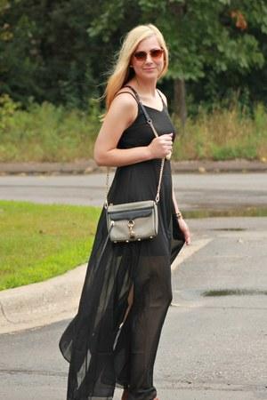 black OASAP dress - heather gray Rebecca Minkoff bag - brown OASAP sunglasses