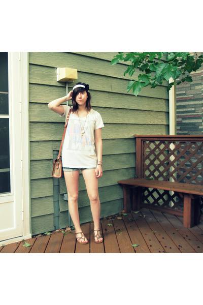 Ragstock t-shirt - shorts - secondhand dooney & bourke purse - Aldo - DIY