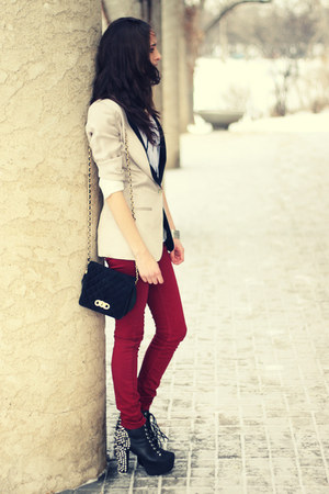 ruby red red asos jeans - black spike lita Jeffrey Campbell boots