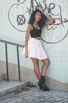 pink mermaid UNIF skirt - black may chelsea Miista boots
