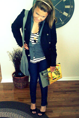 black Charlotte Russee jacket - white Rosss shirt - blue Forever 21 jeans - gray