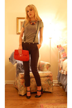 Gap pants - The Limited purse - Nine West shoes - forever 21 necklace