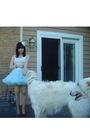 Beige-target-shirt-blue-vintage-skirt-white-forever-21-accessories-silver-